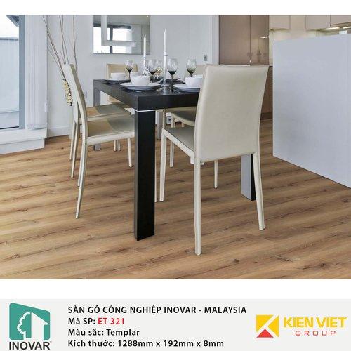 Sàn gỗ công nghiệp Inovar - Malaysia ET321 Templar | 8mm
