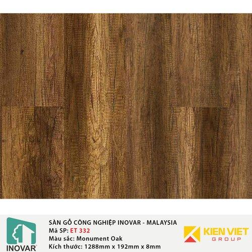 Sàn gỗ công nghiệp Inovar - Malaysia ET332 Monument Oak | 8mm
