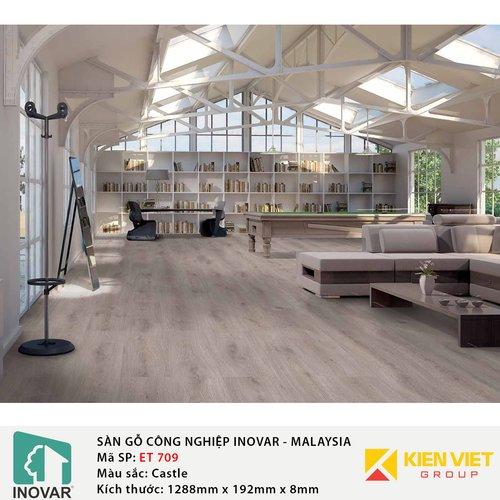 Sàn gỗ công nghiệp Inovar - Malaysia ET709 Castle | 8mm