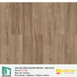 Sàn gỗ công nghiệp Inovar - Malaysia ET708 Sakura | 8mm