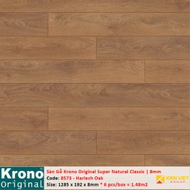 Sàn gỗ Krono Super Natural Classic 8573 Harlech Oak   8mm