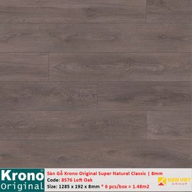 Sàn gỗ Krono Super Natural Classic 8576 Loft Oak | 8mm