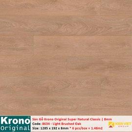 Sàn gỗ Krono Super Natural Classic 8634 Light Brushed Oak   8mm