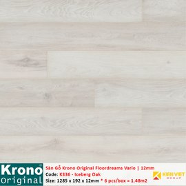 Sàn gỗ Krono Floordreams Vario K336 Iceberg Oak | 12mm