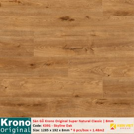 Sàn gỗ Krono Super Natural Classic K391 Skyline Oak | 8mm