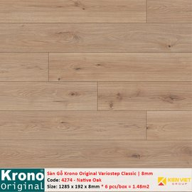 Sàn gỗ Krono Variostep Classic 4274 Native Oak | 8mm