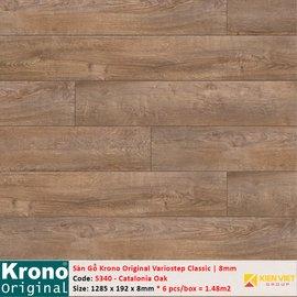 Sàn gỗ Krono Variostep Classic 5340 Catalonia Oak | 8mm