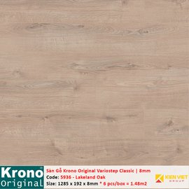 Sàn gỗ Krono Variostep Classic 5936 Lakeland Oak   8mm