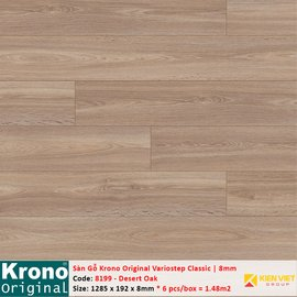 Sàn gỗ Krono Variostep Classic 8199 Desert Oak | 8mm