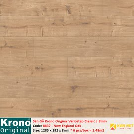 Sàn gỗ Krono Variostep Classic 8837 New England Oak | 8mm