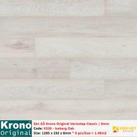 Sàn gỗ Krono Variostep Classic K336 Iceberg Oak | 8mm