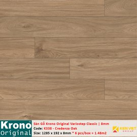 Sàn gỗ Krono Variostep Classic K338 Credenza Oak   8mm