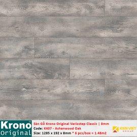 Sàn gỗ Krono Variostep Classic K407 Ashenwood Oak   8mm