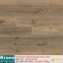 Sàn gỗ Krono Variostep Classic K417 Andromeda Oak | 8mm