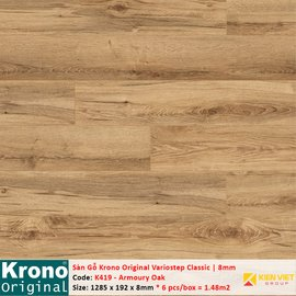 Sàn gỗ Krono Variostep Classic K419 Armoury Oak | 8mm