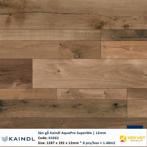 Sàn gỗ công nghiệp Kaindl AquaPro SuperMe K4362 | 12mm