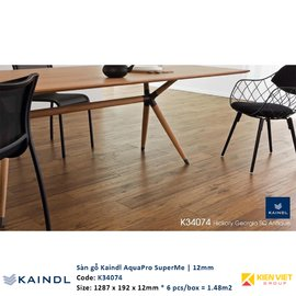 Sàn gỗ công nghiệp Kaindl AquaPro SuperMe K34074 | 12mm