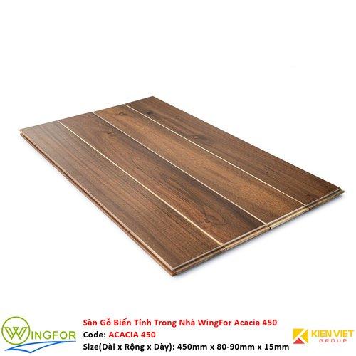 Sàn gỗ biến tính trong nhà Keo Acacia 450