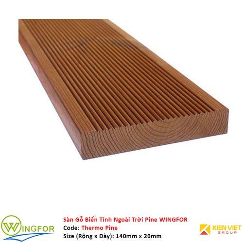 Sàn gỗ biến tính ngoài trời Thông