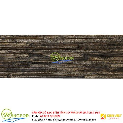 Tấm ốp 3D gỗ keo biến tính WingFor | Màu Đen