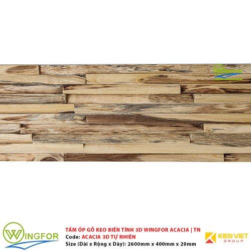 Tấm ốp 3D gỗ keo biến tính WingFor | Màu Sáng