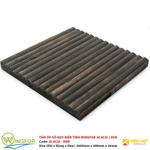 Tấm ốp cung tròn gỗ keo biến tính WingFor | Màu Đen