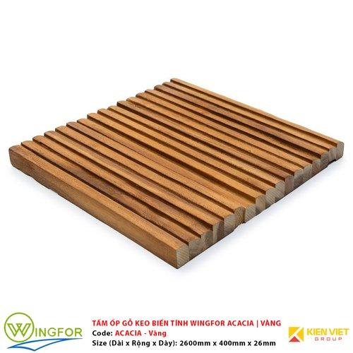 Tấm ốp cung tròn gỗ keo biến tính WingFor | Màu Vàng
