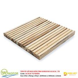 Tấm ốp cung tròn gỗ keo biến tính WingFor | Màu Tự Nhiên