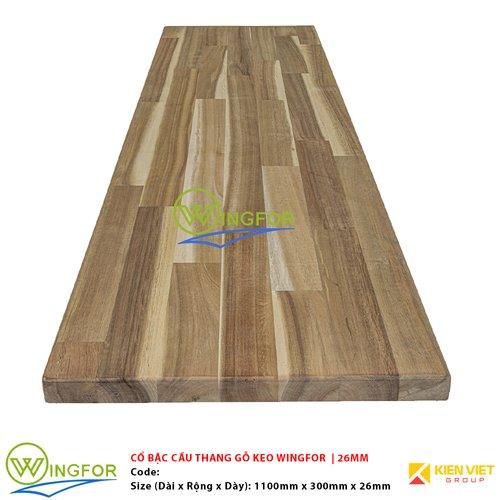 Mặt bậc cầu thang gỗ Keo Tràm biến tính WingFor | 26mm