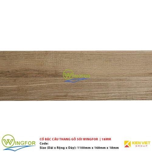 Cổ bậc cầu thang gỗ sồi biến tính WingFor | 18mm