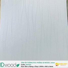 Tấm ốp tường PVC phẳng vân gỗ ID Wood ID 6066 | 6mm