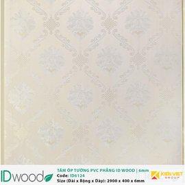 Tấm ốp tường PVC phẳng vân gỗ ID Wood ID 6124 | 6mm