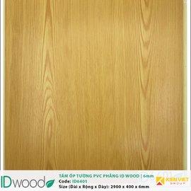 Tấm ốp tường PVC phẳng vân gỗ ID Wood ID 6401 | 6mm