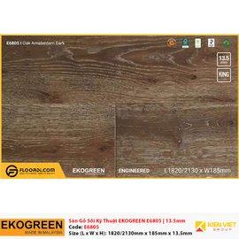 Sàn gỗ Sồi kỹ thuật Ekogreen E6805 Oak Amsterdam Dark | 13.5mm