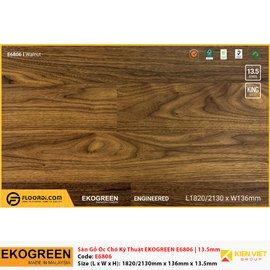 Sàn gỗ óc chó kỹ thuật Ekogreen E6806 Walnut | 13.5mm