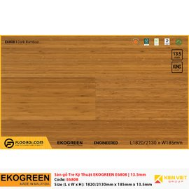 Sàn gỗ tre kỹ thuật Ekogreen E6808 Dark Bamboo | 13.5mm