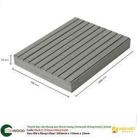 Thanh sàn/bậc cầu thang xi măng Conwood Deck 6″25 mm chống trượt
