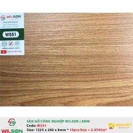 Sàn gỗ công nghiệp Wilson W551 | 8mm