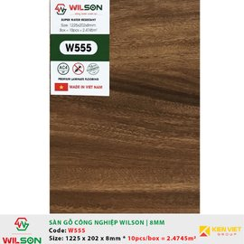 Sàn gỗ công nghiệp Wilson W555 | 8mm