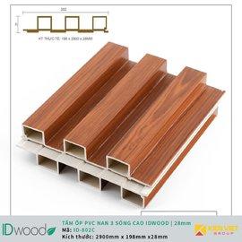 Tấm ốp nan 3 sóng ID Wood ID 0802C   28mm