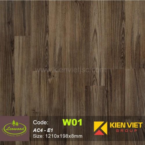 Sàn gỗ công nghiệp Thái lan Leowood W01 AC4   8mm