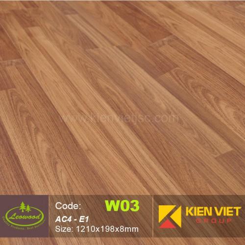 Sàn gỗ công nghiệp Thái lan Leowood W03 AC4 | 8mm
