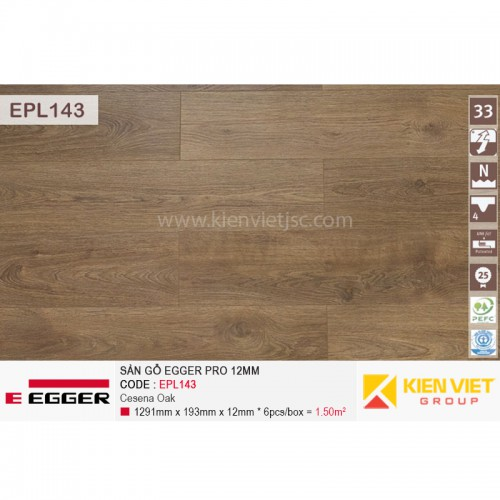 Sàn gỗ Egger Pro EPL143 Cesena Oka   12mm