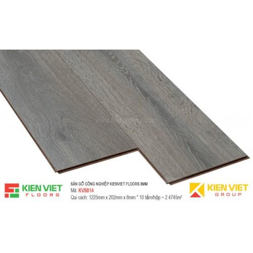Sàn gỗ Kienviet Floor KV8814 hèm V   8mm