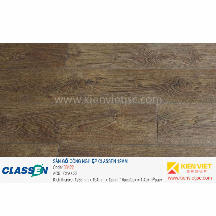 Sàn gỗ Classen AC5 38422 | 12mm
