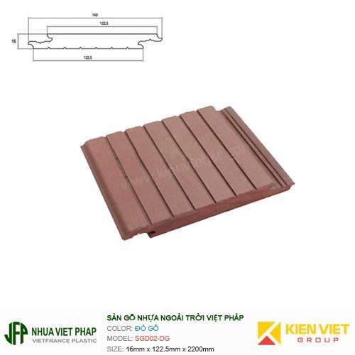 Sàn gỗ nhựa ngoài trời Việt Pháp SGD02   16x122.5mm
