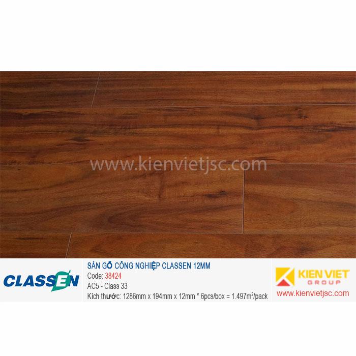 Sàn gỗ Classen AC5 38424   12mm