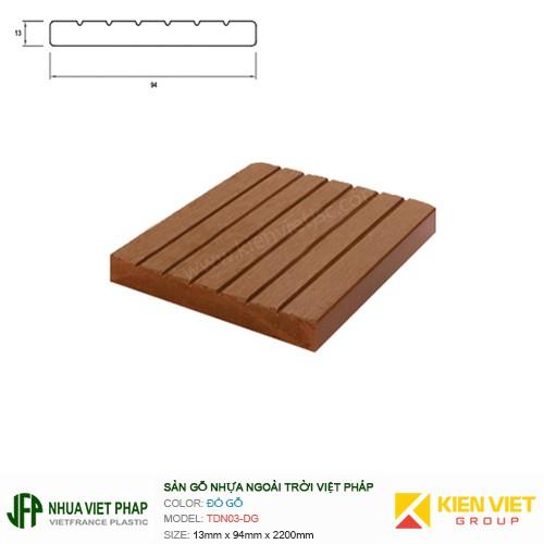 Sàn gỗ nhựa ngoài trời Việt Pháp TDN03-DG   13x94mm