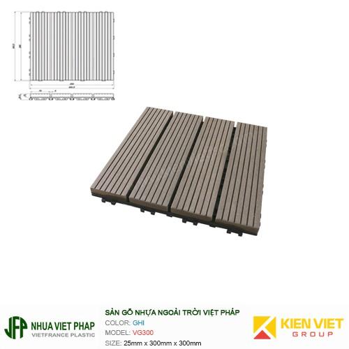 Vỉ gỗ Việt Pháp VG300   300*300*25mm