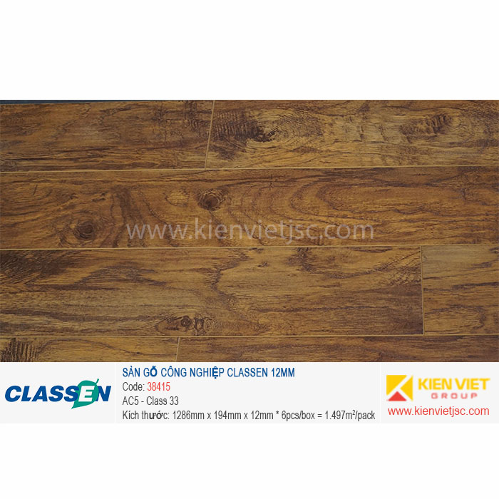 Sàn gỗ Classen AC5 38415 | 12mm